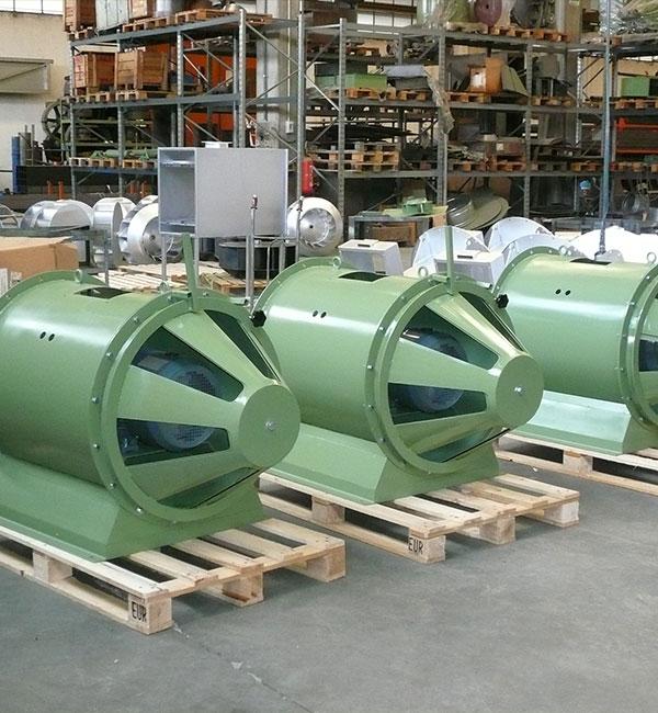 Air roof rising � Ventilatori assiali ad alta pressione con valvola di regolazione