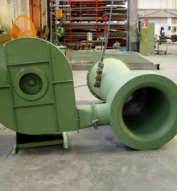 Aspirazione a tubo venturi per aria calda contaminata